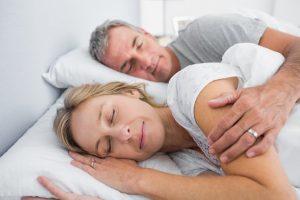sleeping couple